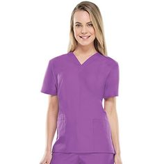 This Cherokee Workwear scrub top is a favorite of allheart shoppers because it is comfortable, functional and durable. It will be a staple in your scrubs collection.
