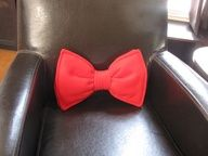 Bow Tie Pillow - Personalized - Custom - Geek Chic Home Decor. $25.00, via Etsy. I've pinned this but I'm actually buying it this time!! ;)