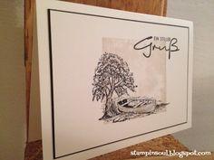Trauerkarte, Stampin Up Am See, Ein Stiller Gruß von Inkystamps