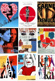 Artwork for the films of Pedro Almodóvar.