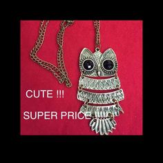 4/$25 Owl necklace .free with 3+ item purchase , or total of $50 spent Jewelry Necklaces