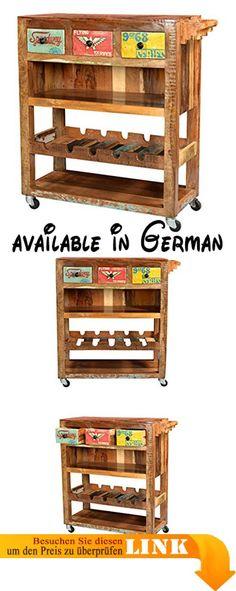 B01IMRNTS2  Casa Padrino Landhaus Bücherschrank B 78 x H 210 cm - küchenwagen mit schubladen