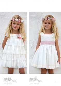 CEREMONIA P/V 2017 - Artesania Amaya Cute Girl Dresses, Girls Party Dress, Little Girl Dresses, Flower Girl Dresses, Baby Girl Dress Patterns, Baby Dress, Just Girl Things, Kids Fashion, Toddler Fashion