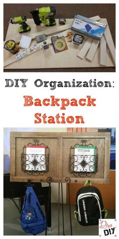 DIY Organizing Backpack Station - Leanne Lee - The Diva of DIY