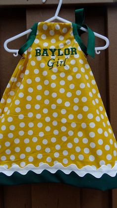 Custom Listing for Kelly Darling Baylor Girl's Dress by TheBeeInMe, $32.95
