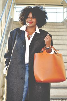 My Curves & Curls™ | A Canadian Plus Size Fashion blog: THE OVERSIZED (BOYFRIEND) COAT