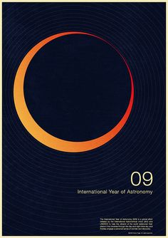 International Year of Astronomy 2009 Poster Design by Simon Page Branding, Poster On, Poster Prints, Art Prints, Print Design, Web Design, Layout Design, Creative Design, Space And Astronomy