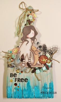 Mixed Media Altered Paint Brush ~ Be Free