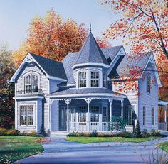 Victorian House Plan chp-26488 at COOLhouseplans.com