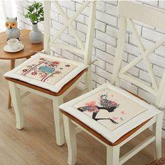 43*43 см пастырской стиль современной простое хлопковое белье Летние офисные один стул подушку высококачественный мягкий коврик Лидер продаж купить на AliExpress