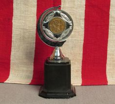 "Vintage 1961 Cricket League Champion Trophy Acc & Dist. 6"""" England J.Hartley"