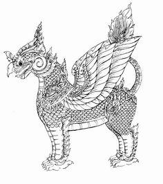 Thai art Griffin? by ~DeZarin on deviantART