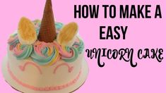 Savory magic cake with roasted peppers and tandoori - Clean Eating Snacks How To Make A Unicorn Cake, Diy Unicorn Cake, Unicorn Cake Pops, Uncorn Cake, Diy Cake, Cupcake Cakes, Cake Smash, Unicorn Cake Decorations, Grapefruit Cake