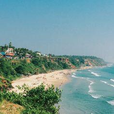 Varkala, one the best beaches in Kerala