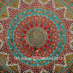 Indian Elephant Tapestry Wall Hanging Hippie Mandala Tapestries Wall Tapestries #CraftAura #HippieBohemian