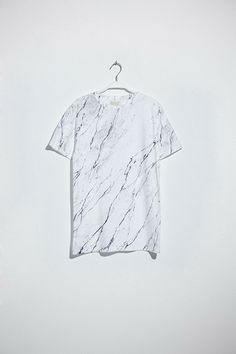 Soulland Faux Playtype — White Marble T-shirt