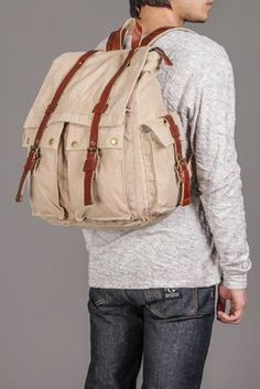 J. CAMPBELL WASHED CANVAS BACKPACK offered by Jack Threads