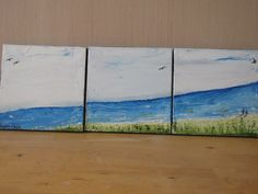 Walking on the beach 3 Oil painting  stretched on by cheerlart