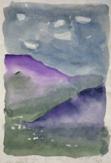 Untitled (Landscape) / Georgia O'Keeffe / 1917 / watercolor on paper