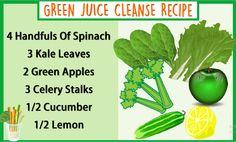 Green Juice Cleanse Recipe  #Juice #Recipe #Health