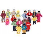 Multicultural Doll Families (18 piece)