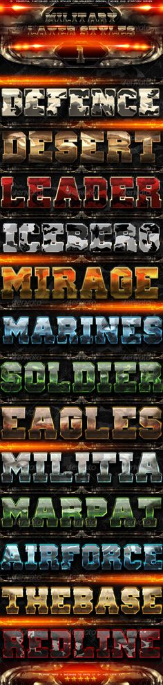 Military Photoshop Layer Styles 1