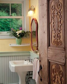How to Shop for Architectural Salvage - Old-House Online. This door would look great in a log home.