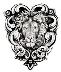 celtic-lion-tattoo-designs-green-eyes.jpg 500×589 pixels