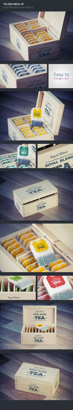 Tea Box Logo Mock Up