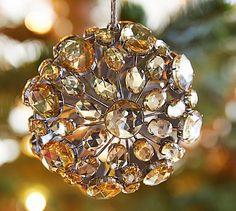 Jeweled Orb Ornament #potterybarn  -  xmas.     lj