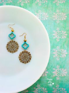 diy boho earrings!