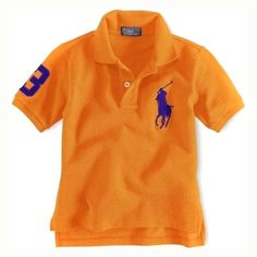 50132440f7ef2d Enfants coton à manches courtes Polo à Orange Polo Ralph Lauren Outlet, Ralph  Lauren Shorts