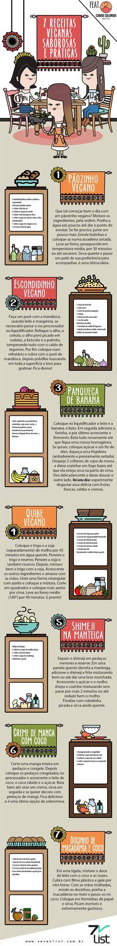 7 receitas veganas saborosas e práticas – Cabide Colorido por Michelle Alves