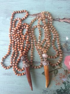 Tibetan carved bone horn boho style rustic hand by MarleeLovesRoxy