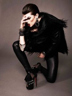 c05726b28bd BLACKlog: Jonas Bresnan and Katie Felstead shoot Kristine Drinke in  Louboutins, November 2010