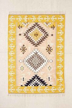 Urban Outfitters Magical Thinking Kilim Rug X Wall Carpet, Rugs On Carpet, Carpets, Ikea Carpet, Long Runner Rugs, Magical Thinking, Polyester Rugs, Rug Inspiration, Yellow Rug