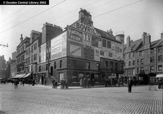 High Street, Dundee - This photograph of the north side of Dundee's High Street also shows the Overgate, which ran roughly parallel from east to west (right to left).
