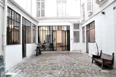 French interior designers Charlotte de Tonnac and Hugo Sauzay have sent me photos of their latest refurbishment projects. They run FESTEN, a Paris-based interior design practice. Houses Architecture, Architecture Design, Residential Architecture, Metal Facade, Slow Design, French Interior, Interior Design Companies, House Windows, Paris Photos