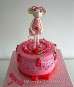 For a sweet little girl who really wanted a Angelina on her cake!