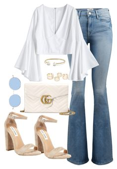 """""""Untitled #3758"""" by theaverageauburn ❤ liked on Polyvore featuring Frame, David Yurman, Gucci and Steve Madden"""