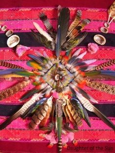 Feather alter made by my beloved Agustin