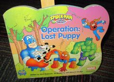 MARVEL SPIDER-MAN & FRIENDS OPERATION: LOST PUPPY BOARD BOOK, GREAT READ, GUC