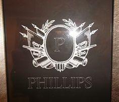 Monogrammed P for Phillips at signaturelaserdesigns.com