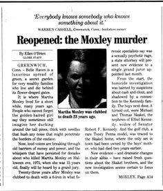 Investigation of martha moxleys murder reaction paper