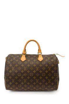Vintage Leather Speedy 35 Travel Bag