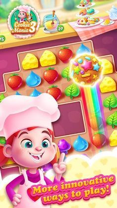 Cookie Mania 3 v1.1.0 [Mod] Cookie Mania 3 v1.1.0 [Mod]Requirements:3.0 and upOverview:Cookie Mania 3 a delicious brand match-3 puzzle game from Ezjoy brings tons of fresh and sweet challenges! Switch and match cookies as many as you can to drop donut break biscuitcook popcorns save gingerbread man bake the cupcakes and spread the jelly. Cookie Mania is a brand match 3 puzzle-adventure you'll embark on a spectacular journey with exciting and challenging objectives like you have never seen b