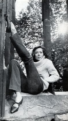 Diana Rigg | When the weather is very cold and a chunky sweater is practical, I'm drawn to Aran/fisherman sweaters with a dense geometric texture.