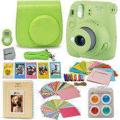 10770e6665996 Fujifilm Instax Mini 9 Instant Fuji Camera (COBALT BLUE) + Accessories  Bundle + Custom