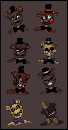Cartoony bears by YugiSR.deviantart.com on @DeviantArt