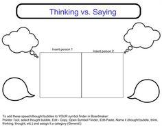 Boardmaker Online comic strip conversation thinking vs saying